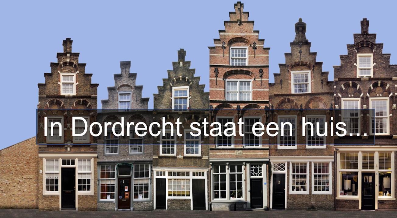 In Dordrecht staat een huis